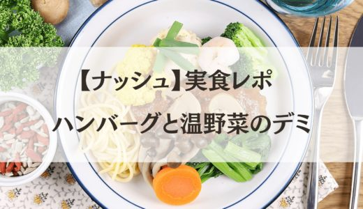 【体験談】ナッシュ(nosh)『ハンバーグと温野菜のデミ』レビュー!