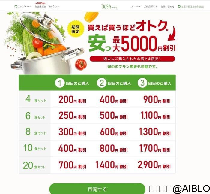 ナッシュ 5000円クーポン