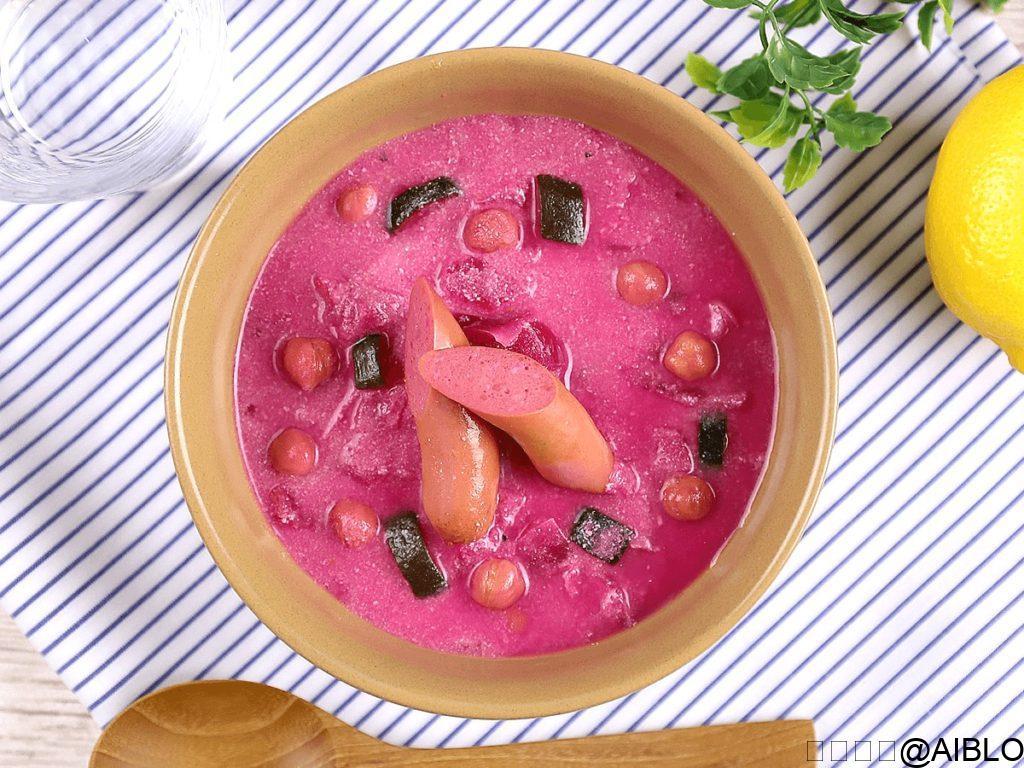 ナッシュ お野菜とひよこ豆のビーツスープ